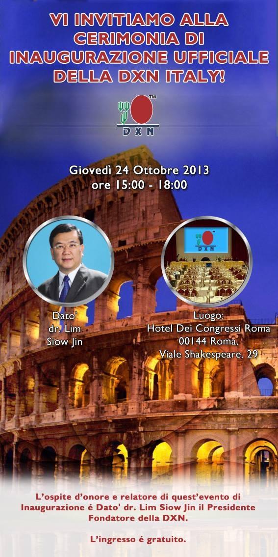 Deschiderea oficială a pieţii din Italia