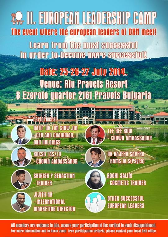 II. European DXN Leadership Camp, Bulgaria