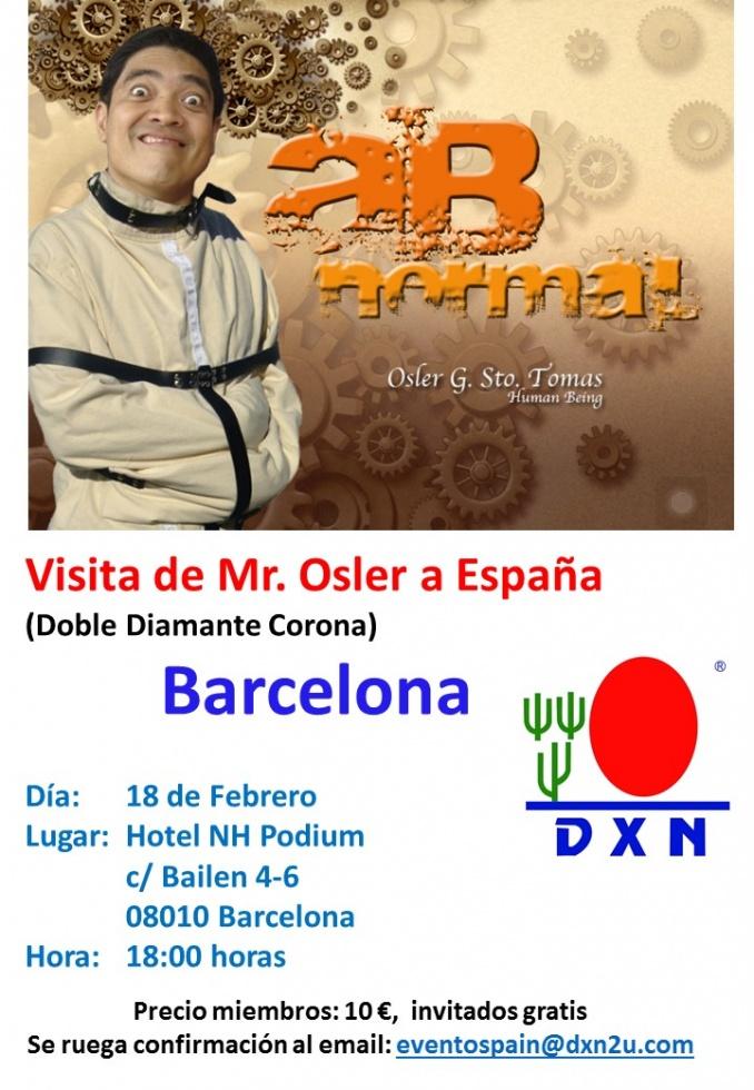 Visita de Mr. Osler a España