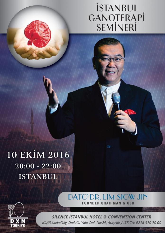 10 EKİM İSTANBUL - 11 EKİM ANKARA GANOTERAPİ SEMİNERLERİ HAKKINDA