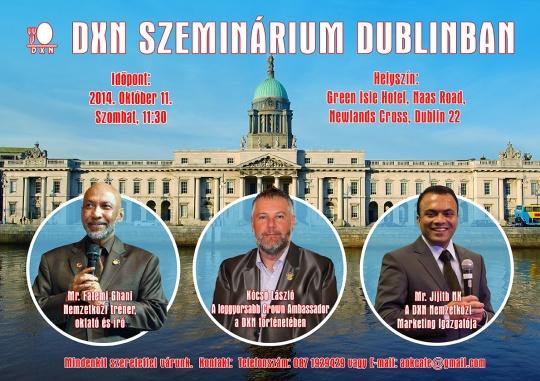 Dublin Waiting 4U! Dublin és a DXN vár rád!