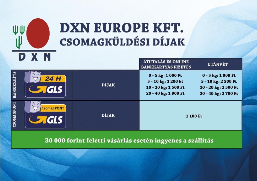 DXN ganoderma kávé és más termékek házhozszállítási díja GLS futárszolgálattal. 30.000Ft-tól INGYENES!