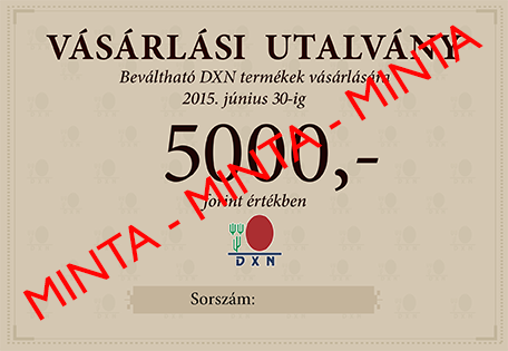 DXN Vásárlási Utalvány
