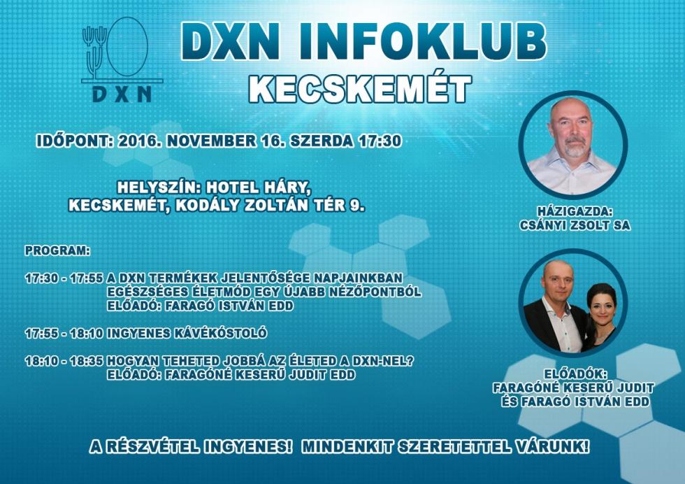 DXN Infoklub Kecskemét 2016