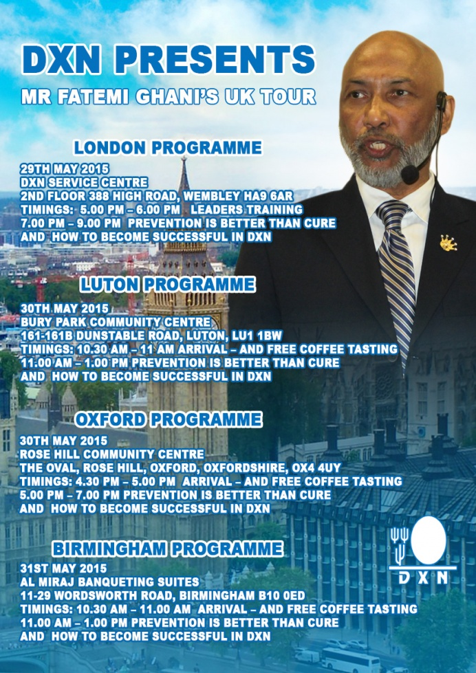 MR. Fatemi Ghani's UK Tour