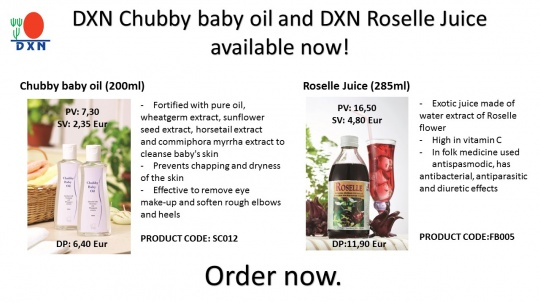 New DXN products