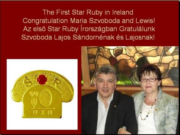 The First Star Ruby in Ireland