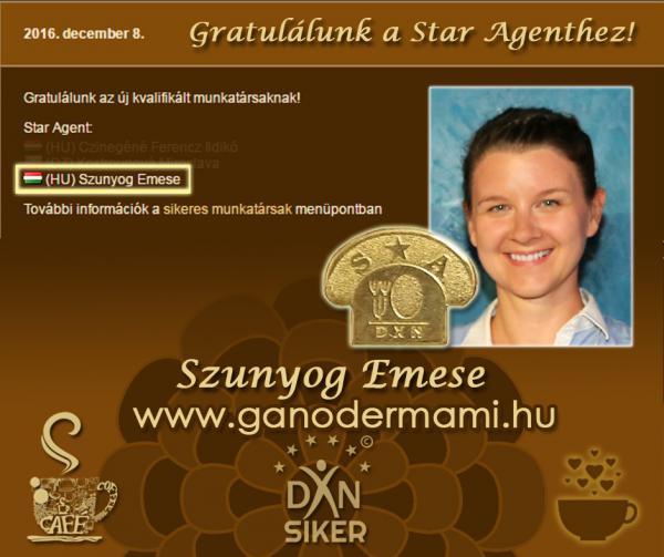 Szunyog Emese DXN Star Agent - Ganodermami
