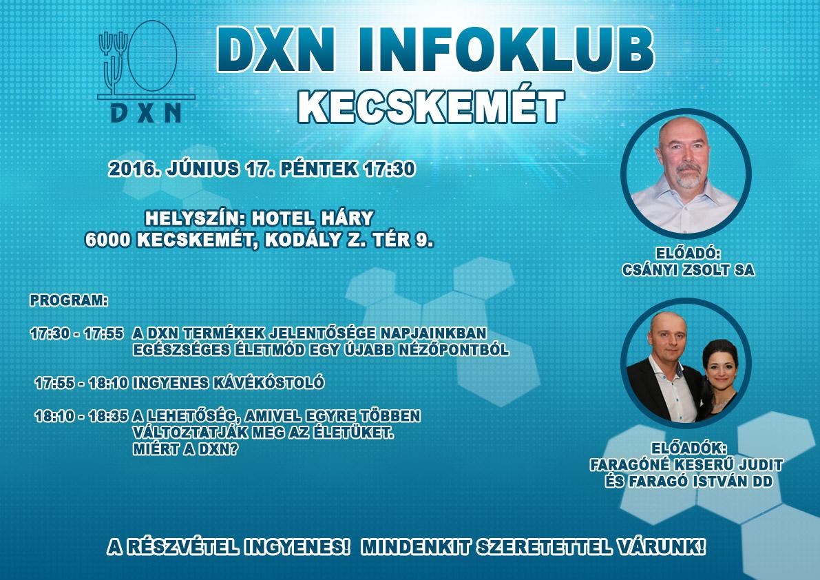 DXN Infoklub Kecskemét 2016. június 17.