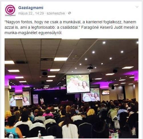 Előadó Üzletanyu konferencián Gazdagmami Facebook