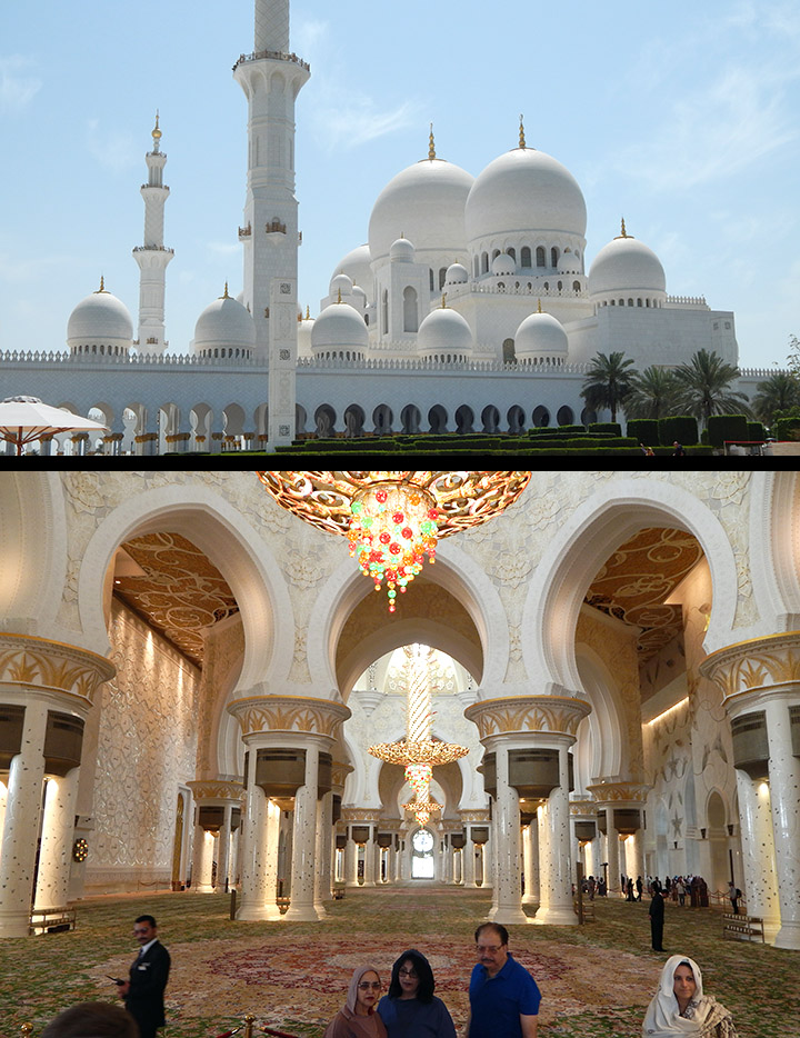 Zajed shejk nagymecset Abu Dhabi