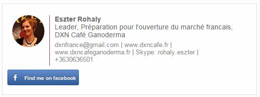 Distributeur DXN en France leader Eszter Rohaly