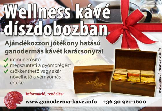 Ganoderma kávé doboz, ajándék kávé
