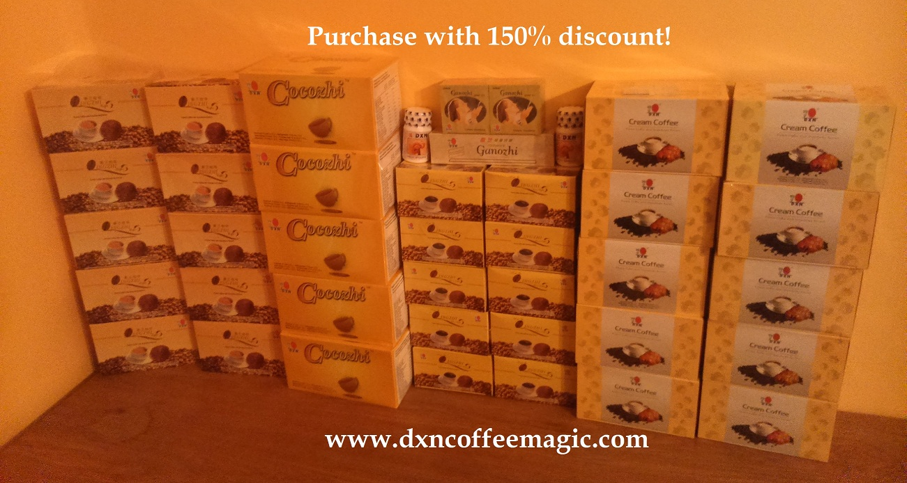Free DXN Ganoderma coffee kit: 150% discount