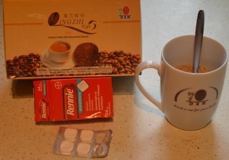 Gyomorégés elleni megoldás ganodermás kávé