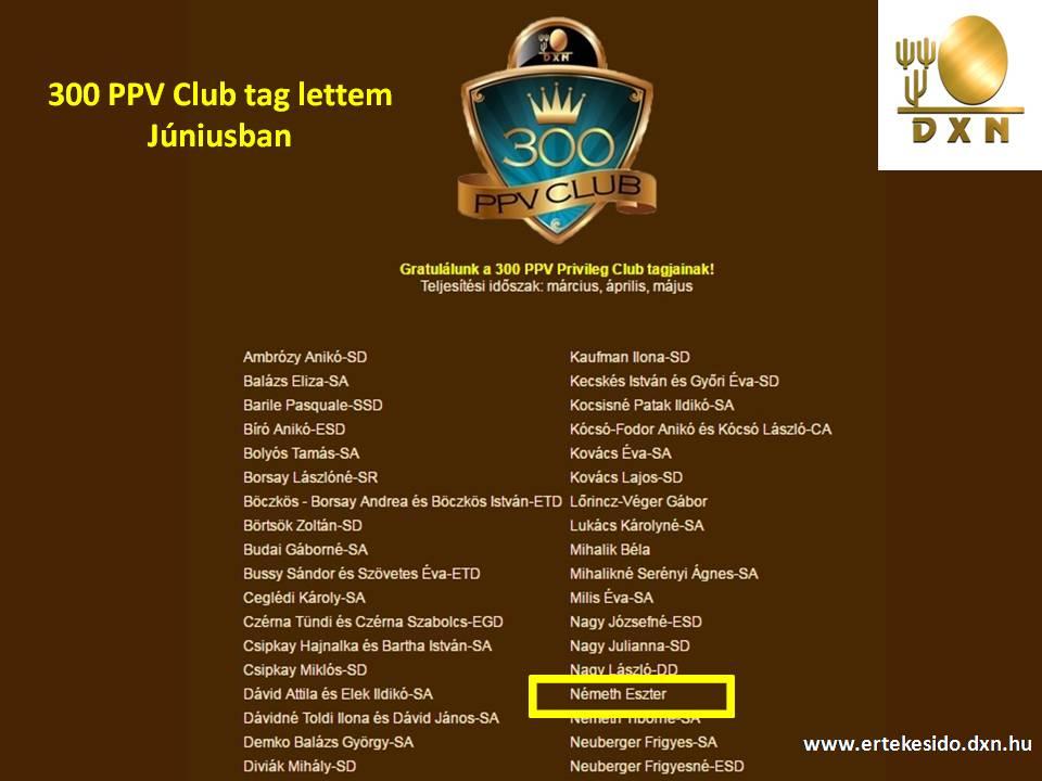 300 PPV Club Member DXN