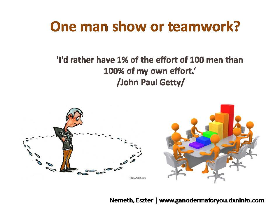 One man show or teamwork?