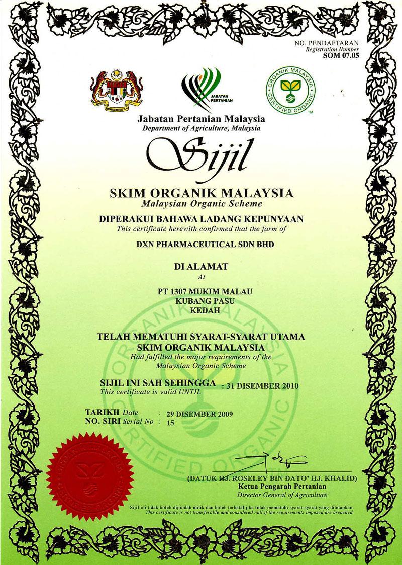 DXN certifikat